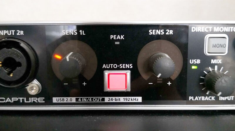 UA-55のAuto-Sense機能