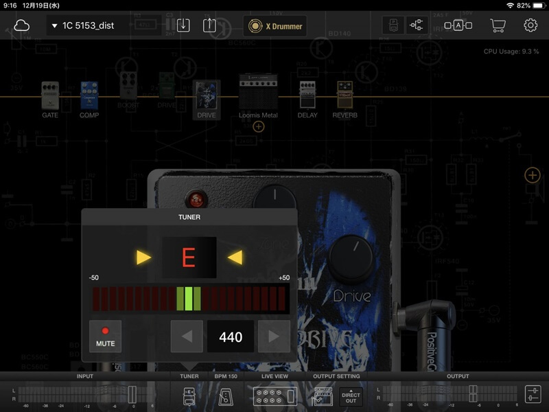 BIAS FX MOBILEチューナー