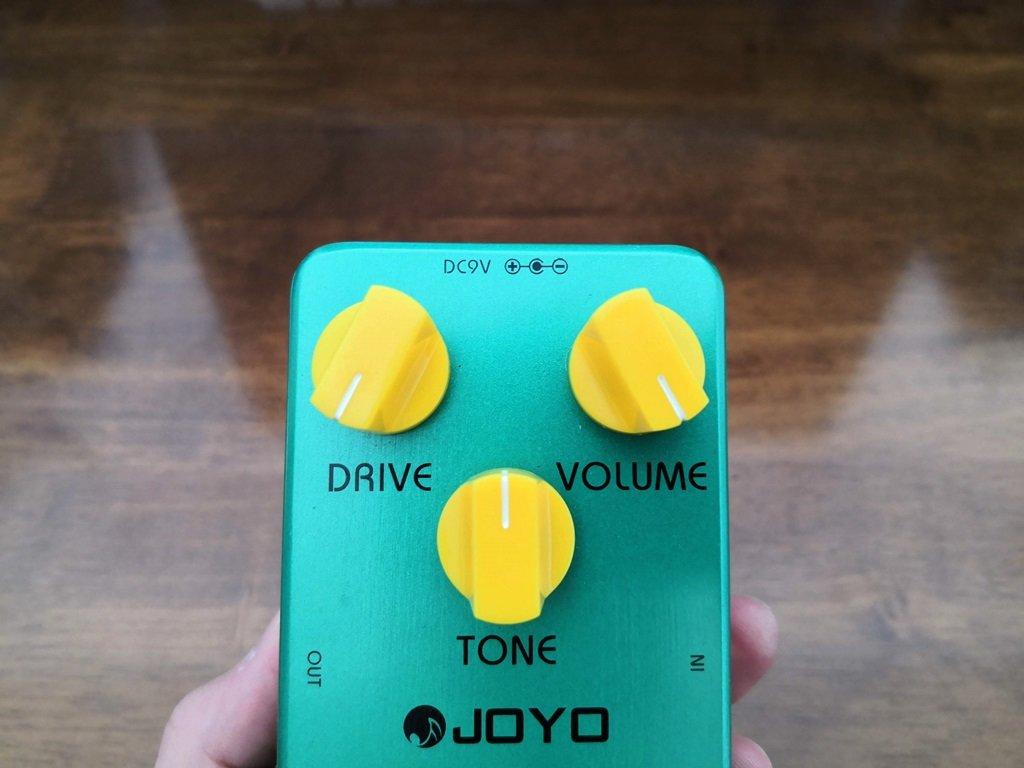JOYO Vintage Overdriveのツマミ