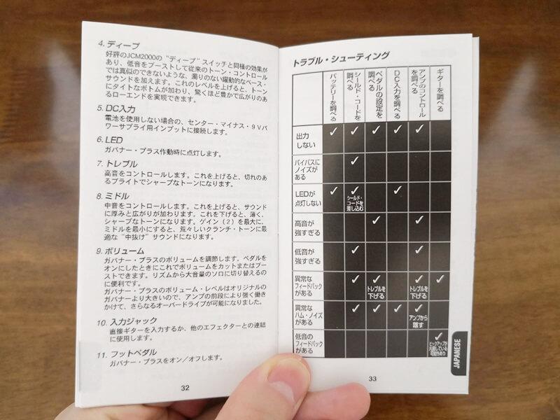 GV-2の取扱説明書
