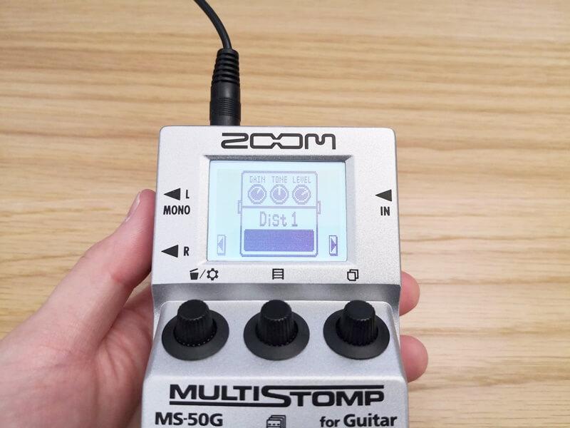 ZOOM MS-50GのエフェクトDist1
