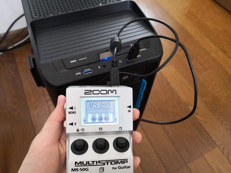 MS-50GをPCと接続する
