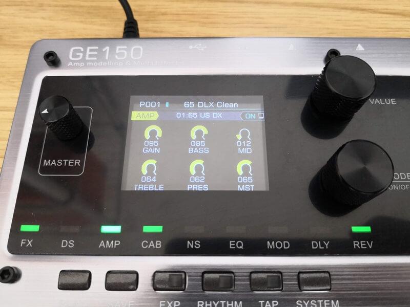 GE150のカラー液晶