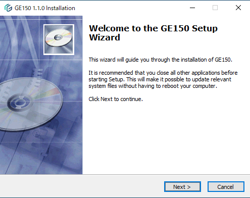 GE150用ソフトのインストール1