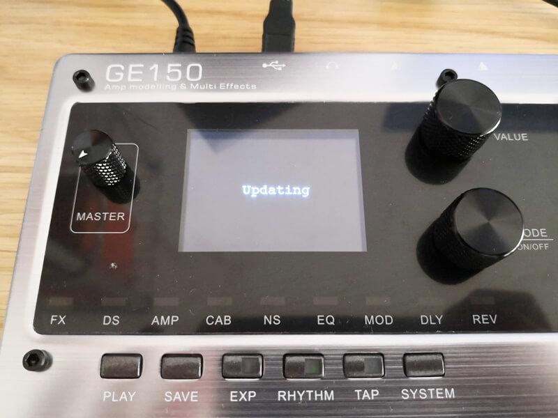 GE150がアップデートモードになった