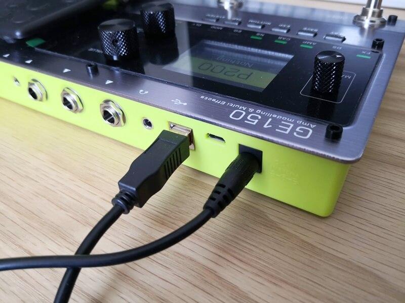 GE150をUSB TYPE-Bで接続する