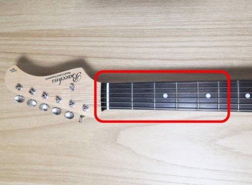 実際のギターの指板