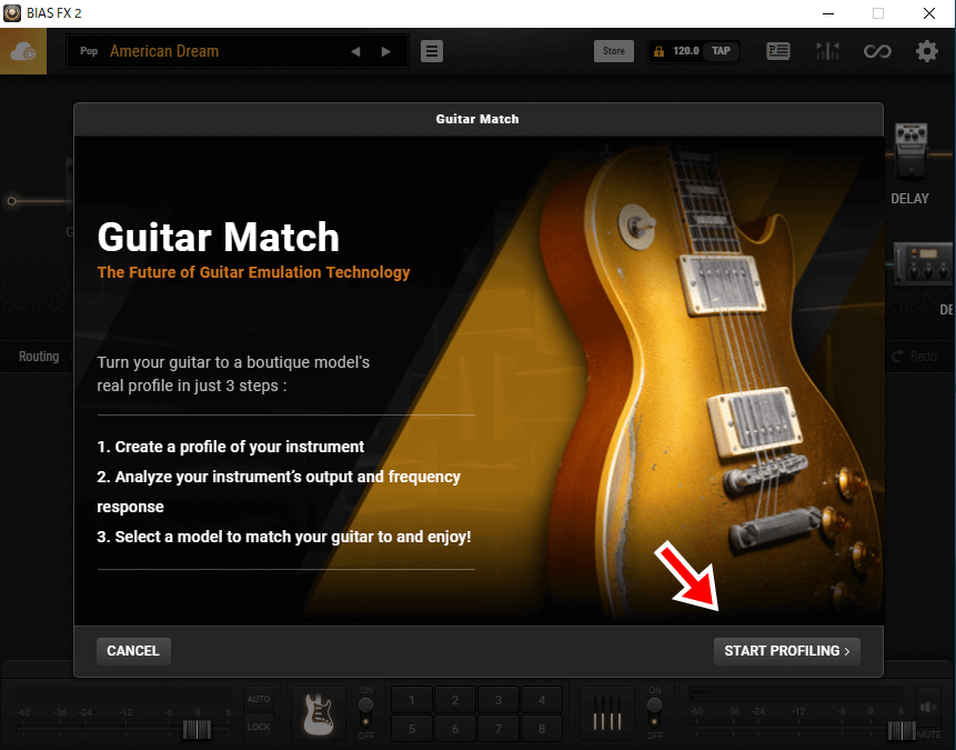 Guitar Matchのホーム画面