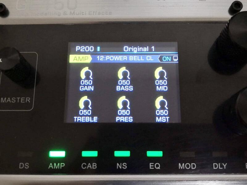 GE150のモデリングアンプ