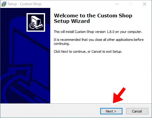 Custom Shopのインストール1