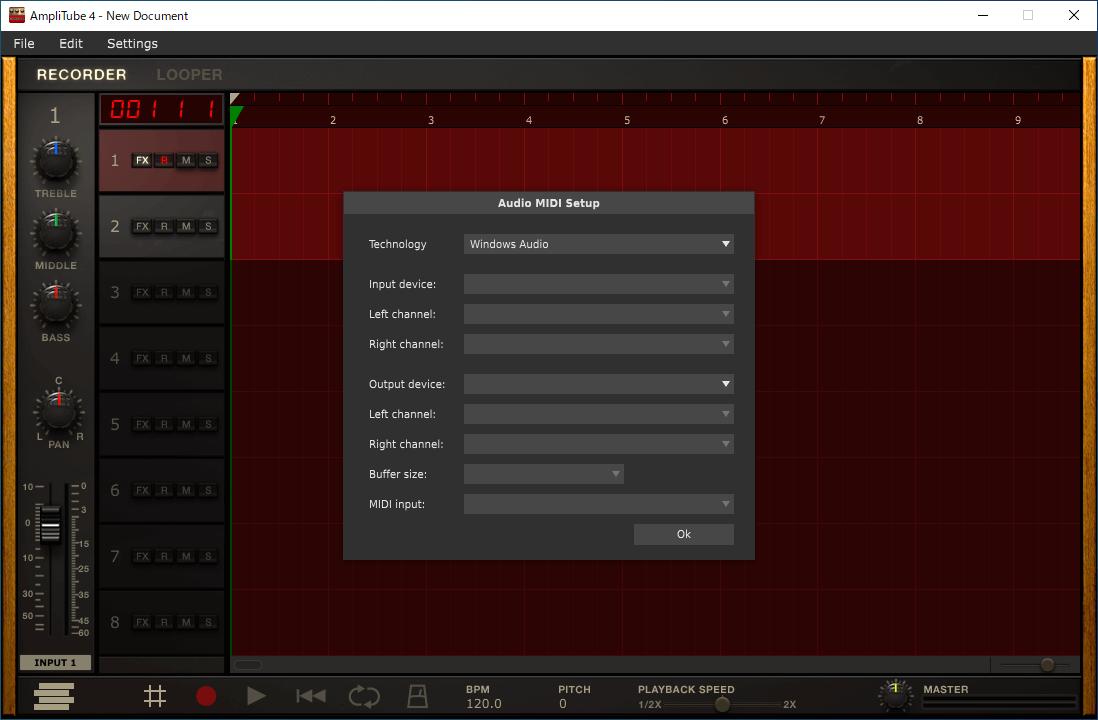 AmpliTube4のオーディオ設定2