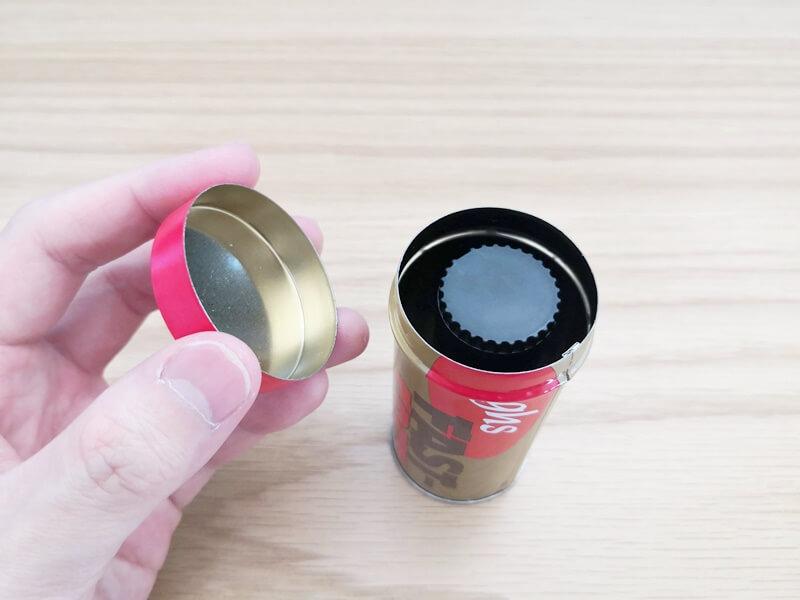 ghs FAST-FRETを缶の中で保管する