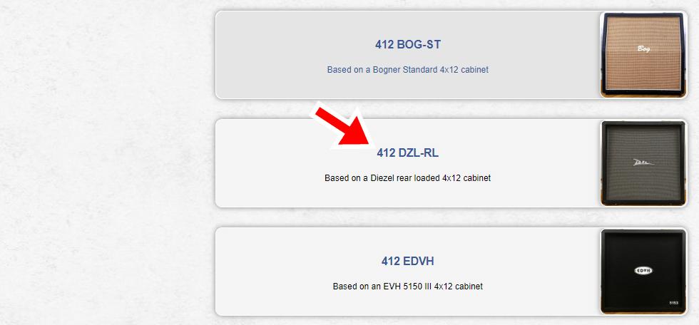 412 DZL-RLを選択