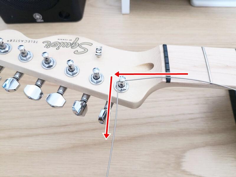 弦を90度に折る