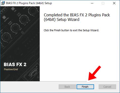 BIAS FX 2のインストール完了