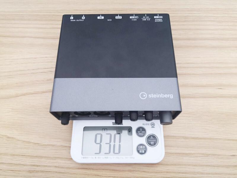 Steinberg UR22Cの重さ