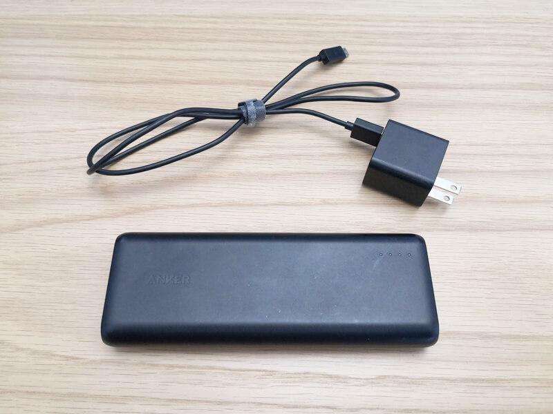 モバイルバッテリーとACアダプター