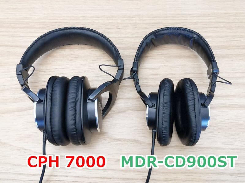 CPH7000とMDR-CD900STの比較