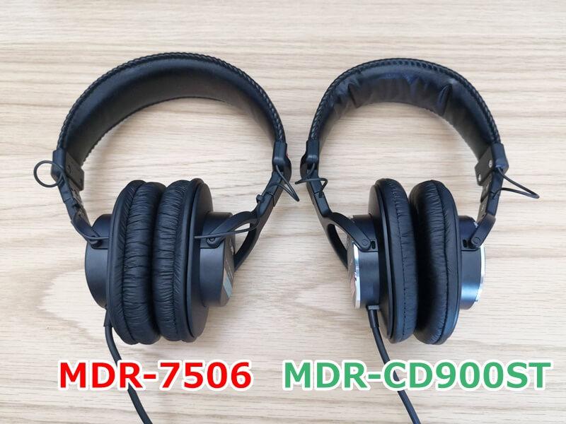 MDR-7506とMDR-CD900STのイヤーパッド比較