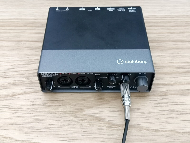 SONY MDR-CD900STをオーディオインターフェースに接続する