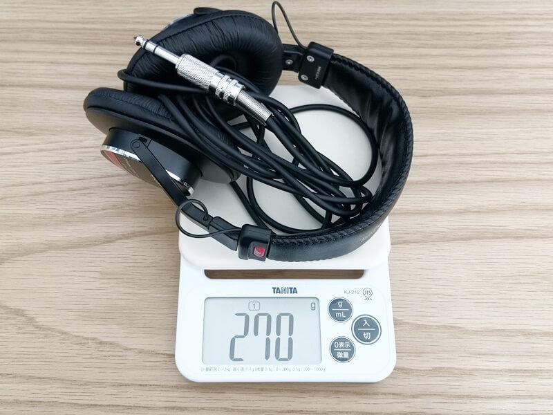 SONY MDR-CD900STの重さ