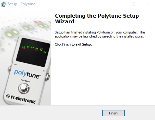Polytuneプラグインのインストール完了
